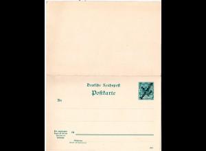 DOA P 7, ungebr. 3 P./5 Pf. Doppelkarte Ganzsache.