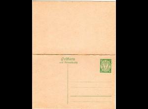 Danzig P 27a, ungebr. 10+10 Pf. Doppelkarte Ganzsache