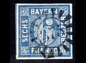Bayern, MR 375 ORTENBURG zentrisch auf breitrandiger 6 Kr.