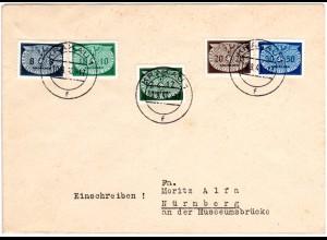 Generalgouvernement 1940, 5 Portomarken auf Brief m. Stpl. Krakau 1