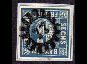 Bayern, MR 77 DEGGENDORF klar u. zentr. auf Briefstück m. breitrandiger 6 Kr.