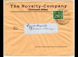 DR 1925, EF 5 Pf. auf Firmen Brief v. UBBERGEN Holland ab Aachen n. Norwegen.