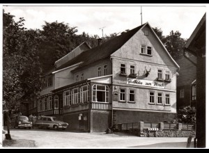 Winterstein, Gasthaus zum Hirsch m. parkenden Oldtimern, ungebr. sw-AK
