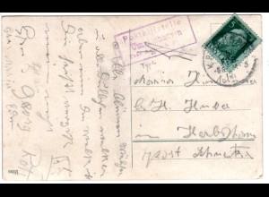 Bayern 1912, R3 Posthilfstelle UMRATSHAUSEN Taxe Aschau b.P. auf Karte m. 5 Pf.