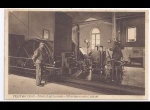 Bergbau, Fördermaschine Stein Salz Werk Kochendorf, ungeb. Ansichtskarte. #1138