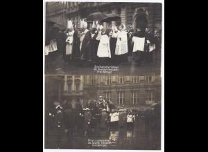 Bayern 1917, 2 AK München, Beisetzung Kardinal Bischof Dr. von Bettinger #1007
