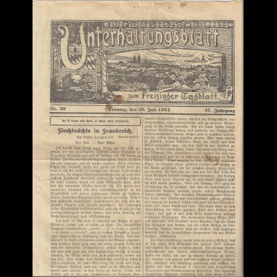 Freising 1924, illustriertes Unterhaltungsblatt zum Freisinger Tagblatt. #1955