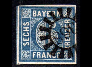 Bayern, MR 368 OBERVIECHTACH auf breitrandiger 6 Kr.