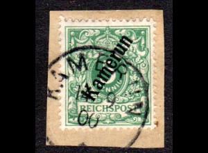 Kamerun 2, 5 Pf. auf Briefstück m. Stempel KAMERUN