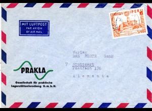 Peru 1965, EF 4,60 S Inka Sonnen Observatorium auf Luftpost Brief n. Deutschland