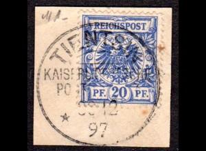 DP China V48, DR 20 Pf. auf Vorläufer Briefstück m. Stpl. TIENTSIN