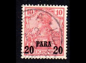DP Türkei 13 II, 20 Pa./10 Pf. Aufdrucktype II m. sauberem Stpl. JAFFA.