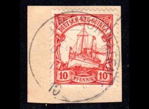 DNG 9, 10 Pf. auf Briefstück m. Stpl. SIMPSONHAFEN