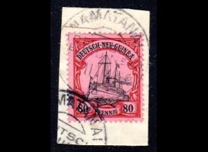 DNG 15, 80 Pf. auf Briefstück m. Stpl. NAMATANAI