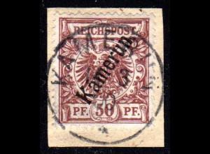 Kamerun 6, 50 Pf. auf schönem Briefstück m. Stempel KAMERUN 11/3/00