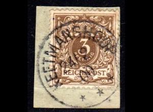 DSWA M 45, 3 Pf. DR als Mitläufer auf sauberem Briefstück m. Stpl. KEETMANSHOOP