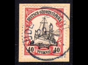 DSWA 17, 40 Pf. auf sauberem Briefstück m. Stpl. LÜDERITZBUCHT