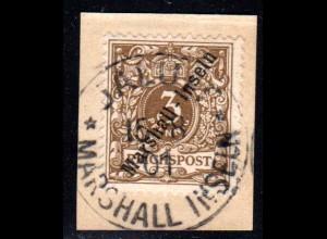 Marshall Inseln 7, 3 Pf.auf Briefstück m. klarem Stempel JALUIT..