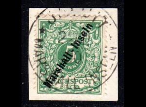 Marshall Inseln 8, 5 Pf.auf Briefstück m. Stempel JALUIT.