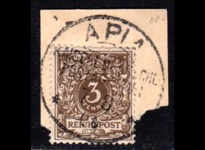 Samoa M 45, 3 Pf. DR als Mitläufer auf Briefstück m. Stempel APIA 7/8/00