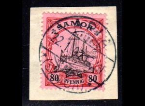 Samoa 15, 80 Pf. auf schönem Briefstück m. Stempel APIA