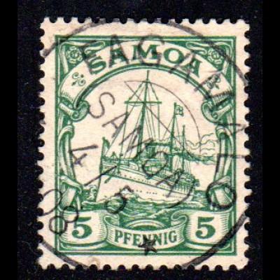Samoa 8, 5 Pf. m. klarem Stempel FAGAMALO