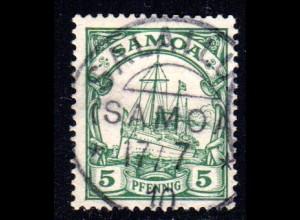Samoa 8, 5 Pf. m. klarem Stempel SALAILUA