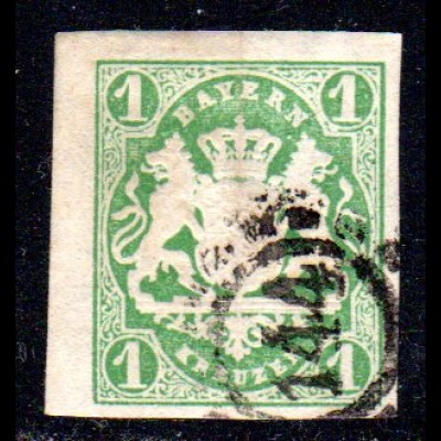 Bayern, oMR 144 FÜRSTENFELDBRUCK klar auf breitrandiger 1 Kr.