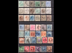Cuba ca.1875/1910, 42 verschiedene gestempelte alte Marken