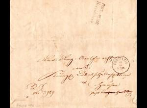 Bayern 1876, K1 Forchheim u. rs. Postablage HEROLDSBACH auf Orts Brief v. Hausen