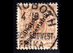 DSWA 5, 3 Pf., schöne Marke m. klarem Stpl. REHOBOT