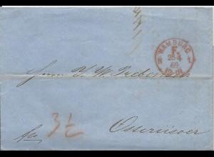 "NDP 1869, Franco Stpl. ""HAMBURG F.N1."" auf Brief n. Norwegen. #1558"