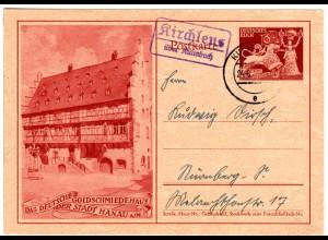 DR 1942, Landpost Stpl. KIRCHLEUS über Kulmbach auf 6 Pf. Goldschmiede Ganzsache