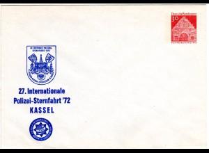 BRD 1972, ungebr. 30 Pf Privat Ganzsache 27. Internat. Polizei-Sternfahrt Kassel
