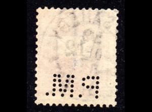Ungarn 1899, gest. 12 Kr. m. perfin Firmenlocheung P.M.