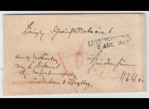 Württemberg 1837, L2 Ludwigsburg auf Nachnahme Brief n. Heidenheim. #1991