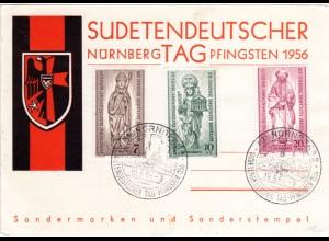 Nürnberg, Ereigniskarte m. Sonderstempel Sudetendeutscher Tag Pfingsten 1956