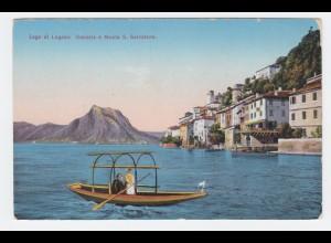 Tessin Ticino, Gandria Lago di Lugano, Luganer See, ungebr. Farb AK. #2149