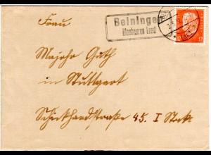 DR 1932, Landpost Stpl. WART Nagold Land auf Schultheißenamt Brief m. 12 Pf.