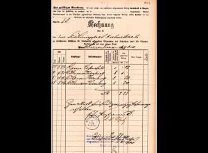 Bayern 1900, Rechnung Telegramm u.Telefongebühren, Postformular m. K1 Kulmbach 2