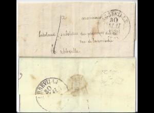 Frankreich 1838, Abbeville Lokal Brief! Ortsbrief Porto 1 (decime). #1144