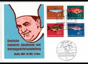 1964, Sonderkarte Dt. Gastwirts-...u. -Ausstellung Berlin m. entpr. Sonderstpl.