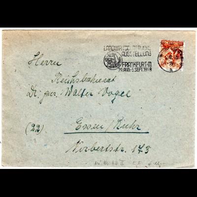 1948, Landwirtschaftliche Ausstellung Frankfurt, Werbestpl. auf Brief m. 24 Pf.