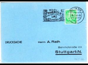 DR 1940, Dornröschen Märchen-Theater Plaza, Berlin Werbestpl. auf Karte m. 3 Pf