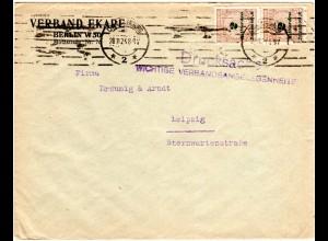 DR 1923, MeF 2x2 Mia. als 4fach-Frankatur auf Drucksache Brief v. Charlottenburg