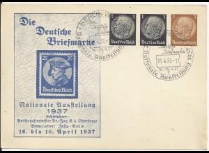 DR 1937, 1+1+ 3 Pf. Privat Ganzsache Karte m entsprechendem Sonderstempel. #1595