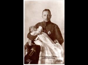 Prinz Joachim von Preussen m. Sohn, 1917 gebr. sw-AK