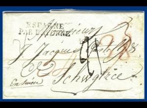 Spanien 1818, früher Brief v. Madrid in die Schweiz #S132
