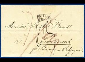 Österreich 1832, Franco/Porto Brief Wien - Belgien. #S234