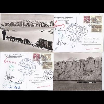 Grönland Arktis Polarpost, Peary Land, 2 AK v.d. 1. dt. Nordpol Expedition. #845
